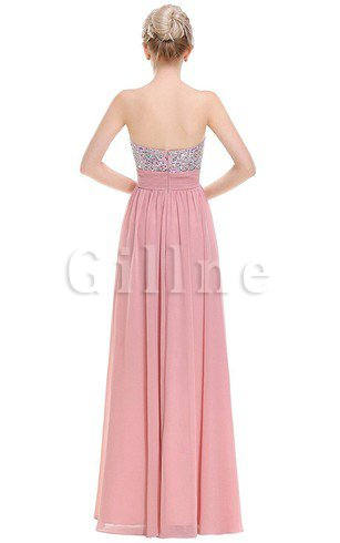 Appliques Chiffon Natural Waist Capped Sleeves Ruched Prom Dress