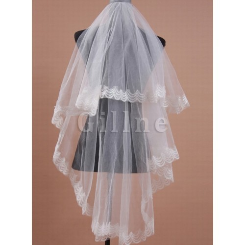 Elegant Chic Short Bridal Veils