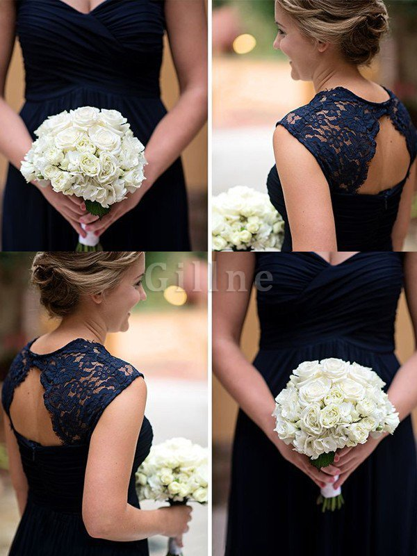 Sweetheart Lace Chiffon A-Line Bridesmaid Dress