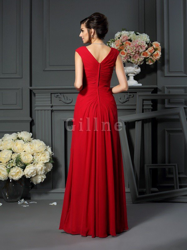Floor Length A-Line Zipper Up Sleeveless Flowers Mother Of The Bride Dress