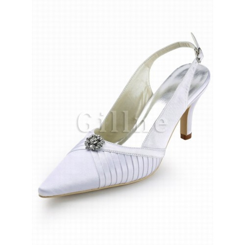 With High Heels PU Pointed Fine With Bride Schu