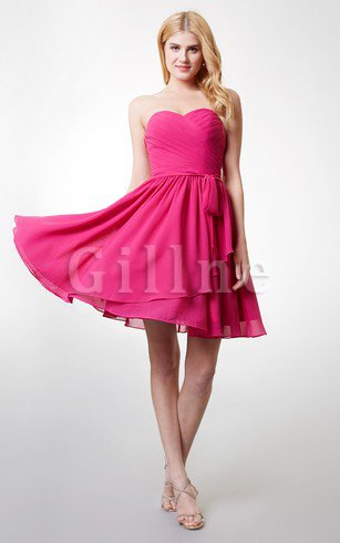 Sleeveless Criss-Cross Pleated Short Informal & Casual Homecoming Dress