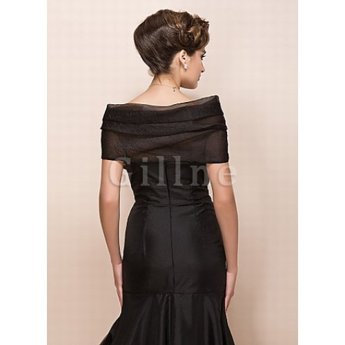 Organza Black Chic | Modern Pleats Bolero