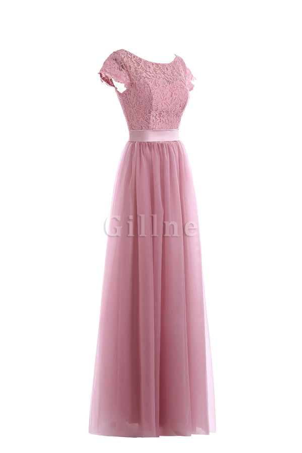 Short Sleeves Sexy Hall Mid Back Accented Bow Evening Dress