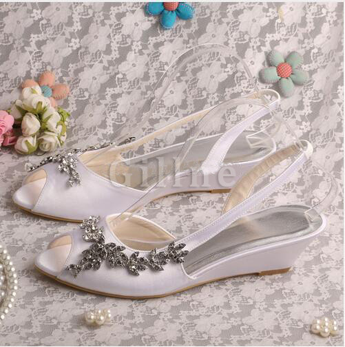 Actual Heel Height 2.17 Inch Drama Autumn Winter Wedding Shoe