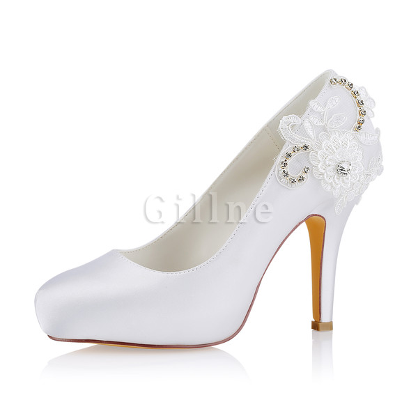 Elegant Heels Platform Actual Heel Height 3.94 Inch Wedding Shoe